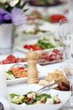 Stół dla świętować fotografia stock