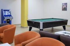 Stół dla billiards w hotelu lobby 1 zdjęcie royalty free