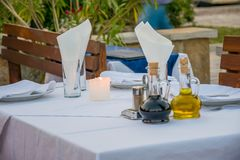 Stół dla blasku świecy Obraz Royalty Free