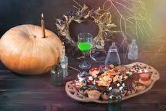 Stół dla Halloween obraz stock