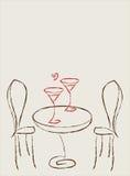stół dwa Zdjęcie Royalty Free