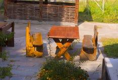 Stół i krzesła Obrazy Royalty Free