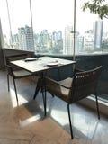 Stół i krzesła dla dwa obrazy royalty free