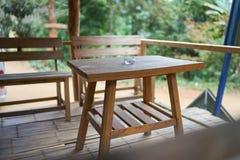 Stół i krzesło w pawilonie Obrazy Royalty Free