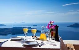 Stół nad morze dla dwa Obraz Royalty Free