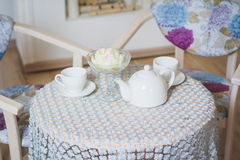 Stół pić herbaty Obraz Royalty Free