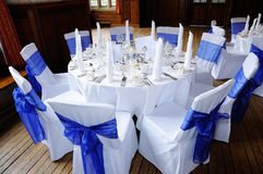 Stół przy weselem Fotografia Royalty Free