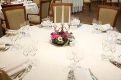 stół ustawiający stół Zdjęcia Stock