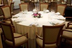 stół ustawiający stół Obrazy Stock
