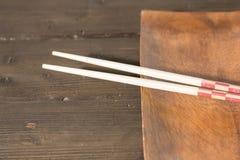 Stół z chopsticks Fotografia Royalty Free