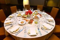 Stół z jedzeniem Obrazy Royalty Free