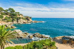 Stół z widokiem nad morzem Obrazy Royalty Free