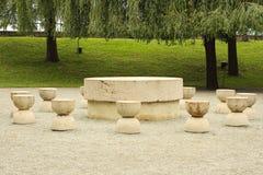 Stół cisza w Targ Jiu Obrazy Royalty Free