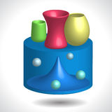 Stół i waza Obrazy Stock
