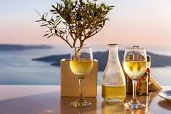 Stół nad morze dla dwa Zdjęcia Royalty Free