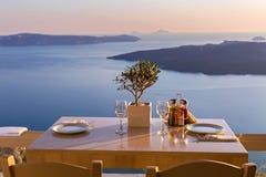 Stół nad morze dla dwa Zdjęcie Stock