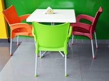 Stół przy soku barem Obraz Royalty Free