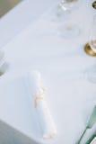 Stół w restauraci blisko morza Fotografia Royalty Free