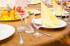 Stół w restauran Zdjęcie Royalty Free