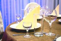 Stół w restauran Fotografia Stock
