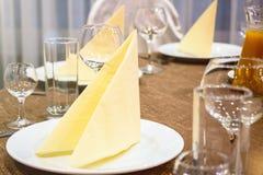 Stół w restauran Zdjęcia Stock