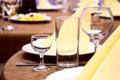 Stół w restauran Obraz Stock