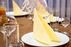 Stół w restauran Fotografia Royalty Free