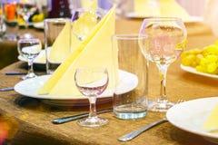 Stół w restauran Obraz Royalty Free