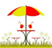 Stół z parasolem Fotografia Royalty Free