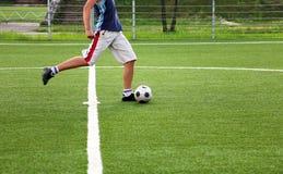 stöd av spelarefotboll Arkivfoto