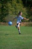 stöd fotboll för boll Arkivfoto