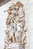 Stöpningar på Arc de Triomphe. Paris. Frankrike. Arkivbilder