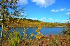 Stör-Fluss, Heiliges Albert, Alberta, Kanada lizenzfreies stockbild
