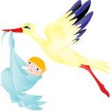 Störche wurden gedacht, um ungeborene Seelen von Iriy zur Erde und zum Sommer im Frühjahr zu tragen Lizenzfreie Stockfotos