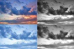 störd sky Arkivfoton