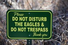 Stören Sie nicht das Eagles-Zeichen Stockfotografie