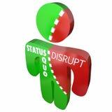 Stören Sie status quo der gleiche Person Change Lizenzfreies Stockfoto