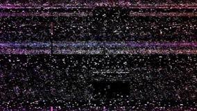 Störschub Fernsehschirm stock video footage
