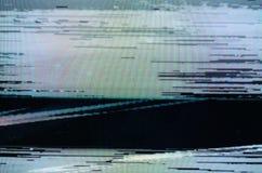 Störschub Fernsehschirm Stockbild