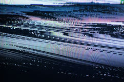 Störschub Fernsehschirm Lizenzfreie Stockfotografie