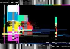 Störschub-Verzerrungs-Hintergrund lizenzfreie abbildung