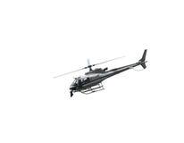 störst helikopterflyg i himlen med kameran för TVöverkant Royaltyfria Bilder