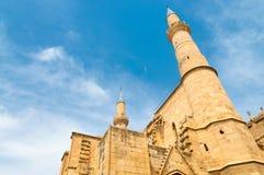 störst kalkon för edirne moskéselimiye cyprus nicosia royaltyfri bild
