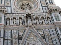 Störst kyrka för Europa ` s fjärde -, i Florence, Italien, Santa Maria del Fiore royaltyfria foton