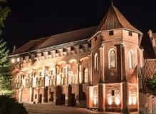 Störst slott i Europa Malbork i Polen Arkivbild
