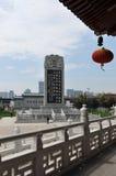 Störst Stele som är inskriven med poemen, HanShan tempel, Royaltyfri Bild