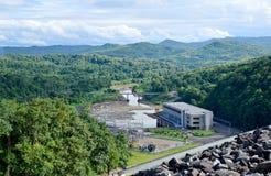 Störst teakträ i ordet, störst teaktränationalpark, Uttaradit, Thailand, Royaltyfri Bild