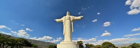 Största Jesus Statue över hela världen, Cochabamba Bolivia Fotografering för Bildbyråer