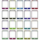Stötdämpare till telefoner av olika färger raster Royaltyfri Bild