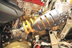 Stötdämpareupphängning för motocycleteknologi Royaltyfri Bild